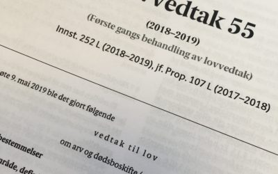 Mens vi venter på den nye arveloven – avkortning av arv.